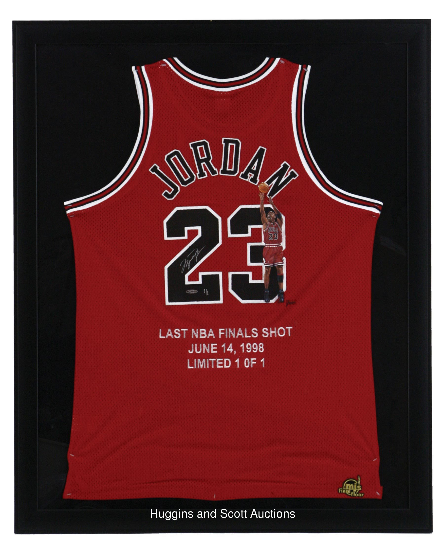 "newest aac4a 3ff15 Framed Michael Jordan ""Last NBA Finals"" Signed Jersey—1/1"