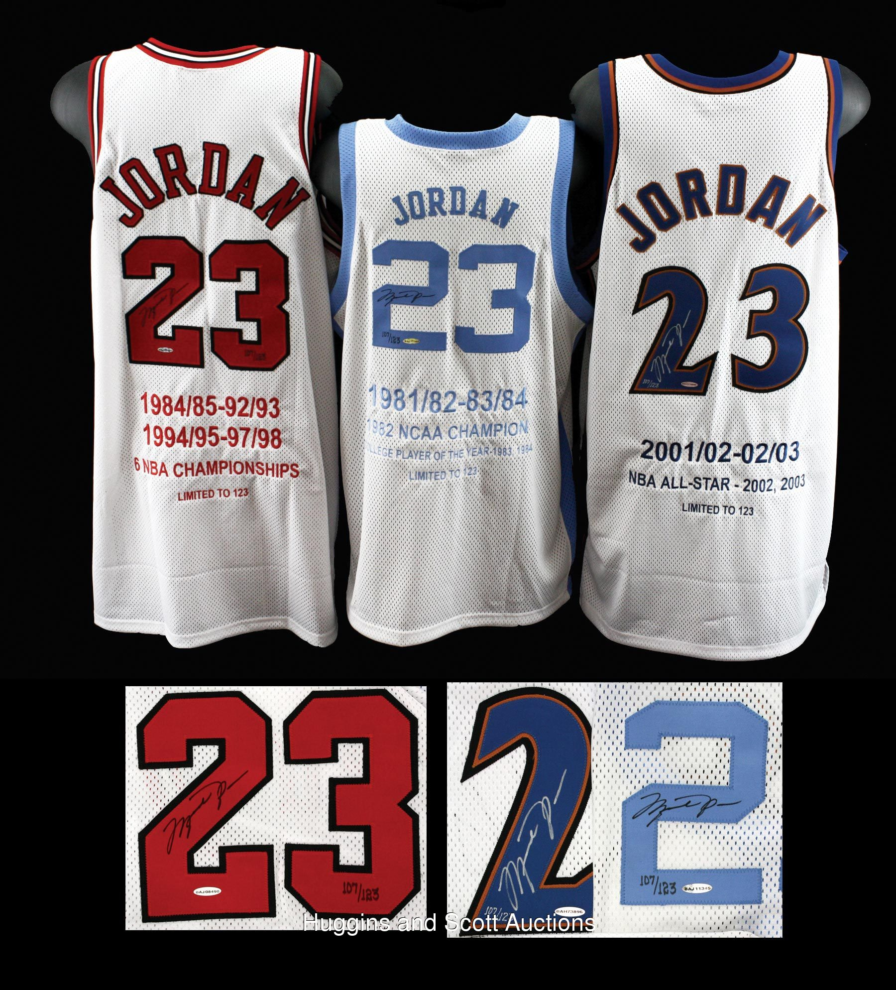 ... DWC Exchange Blog 3) UDA Michael Jordan Career Stats Autographed Jerseys—All    123 e634bb08f