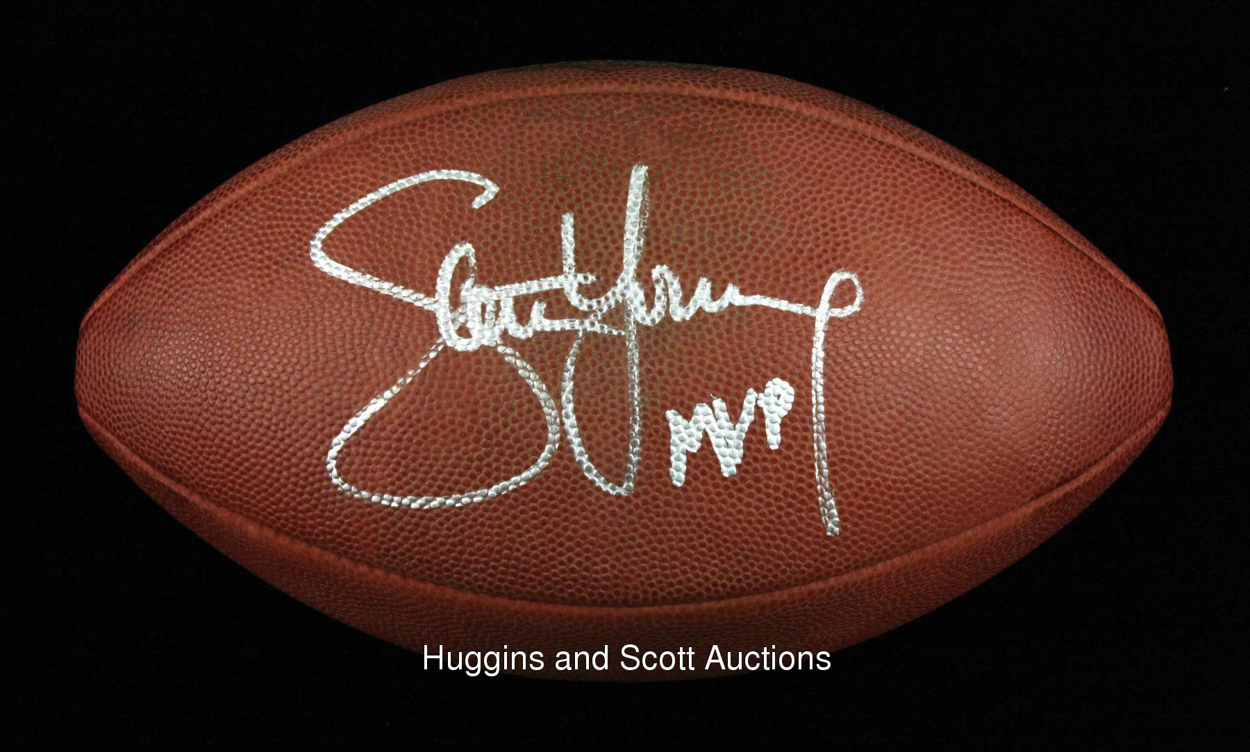 Young Signed Game-Used Super Bowl Football ...