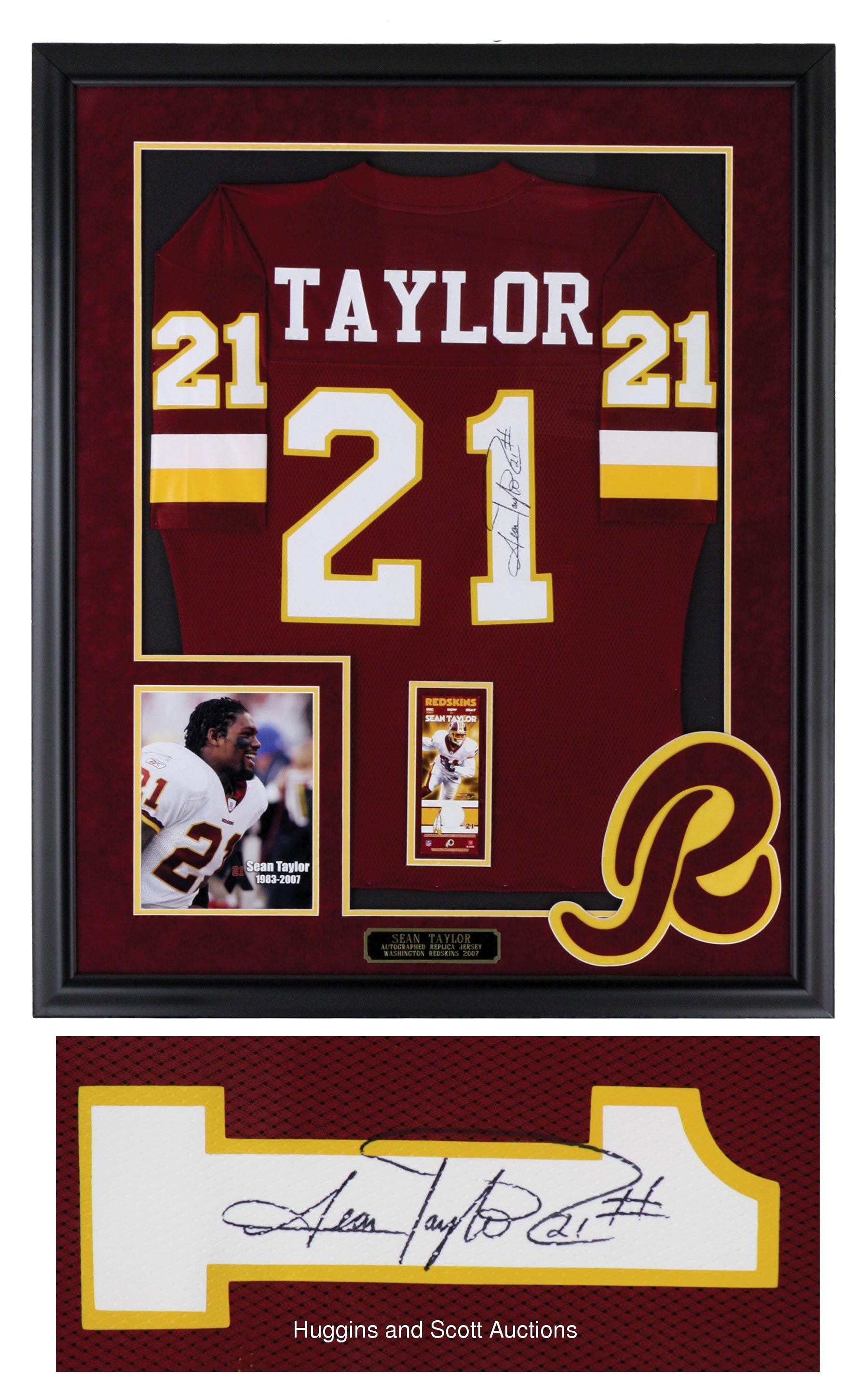 competitive price fc994 74519 sean taylor framed jersey